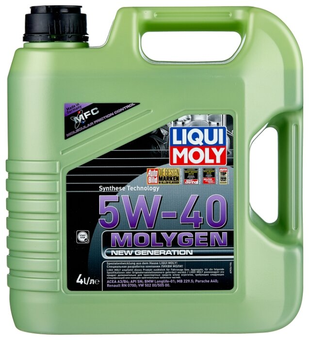 Моторное масло LIQUI MOLY Molygen New Generation 5W-40 4 л