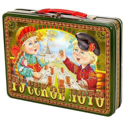 цена на Настольная игра Десятое королевство Русское лото в жестяном чемоданчике «Посиделки»
