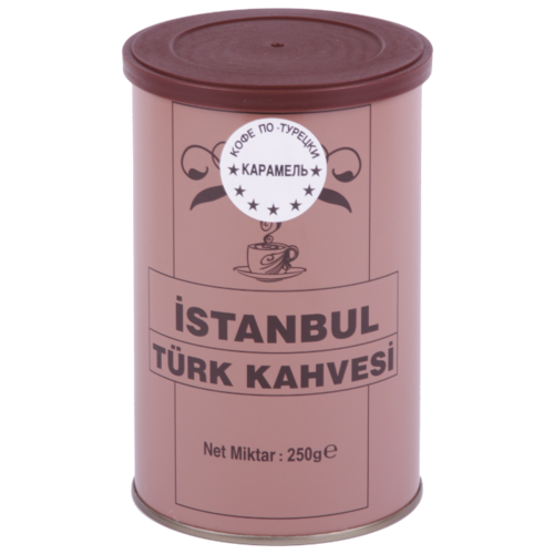 Кофе молотый İstanbul Türk Kahvesi c ароматом карамели, жестяная банка, 250 г кофе молотый i̇stanbul türk kahvesi c ароматом карамели жестяная банка 250 г