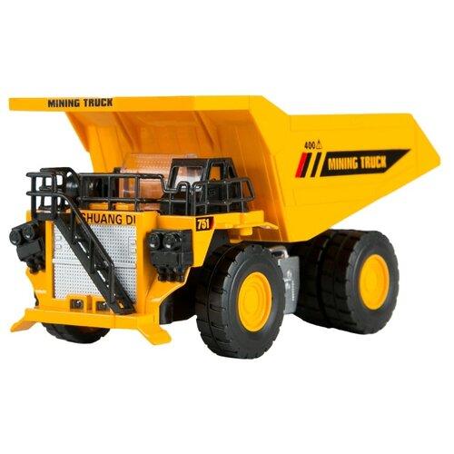 Купить Грузовик Автопанорама JB0401484 1:50 15 см желтый, Машинки и техника