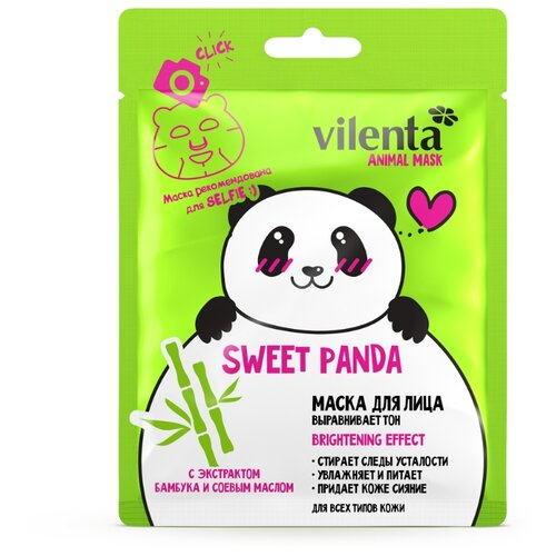Купить Vilenta маска Sweet Panda выравнивающая тон с экстрактом бамбука и соевым маслом, 28 мл