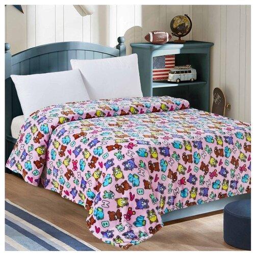 Купить Плед Letto VB36 95х130 см розовый, Покрывала, подушки, одеяла