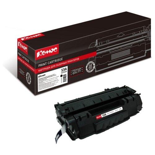 Фото - Картридж лазерный Комус 53A Q7553A черный, для НРP2014/P2015/M2727mfp картридж nv print q7553a для hp laserjet p2014 p2015 m2727mfp черный 3000стр