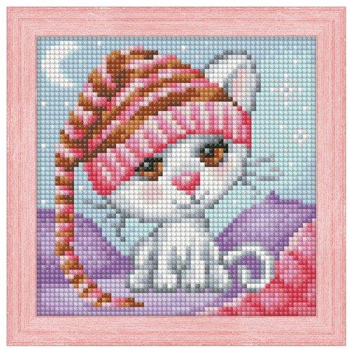 Алмазная живопись Набор алмазной вышивки Сонный котенок (АЖ-1571) 15х15 см алмазная живопись оригами фоторамка зая