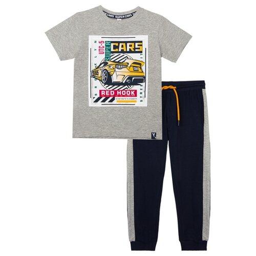 Купить Комплект одежды playToday размер 98, синий/серый, Комплекты и форма