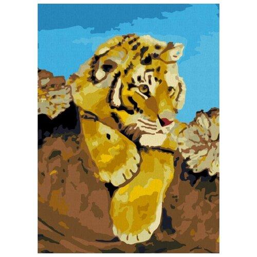 картина по номерам color kit натюрморт с подсолнухами 30x40 см Картина по номерам Color Kit Тигрёнок, 30x40 см