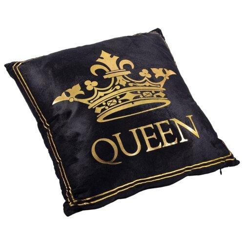 Чехол для подушки Русские подарки 76312, 45 х 45 см черный/золотой