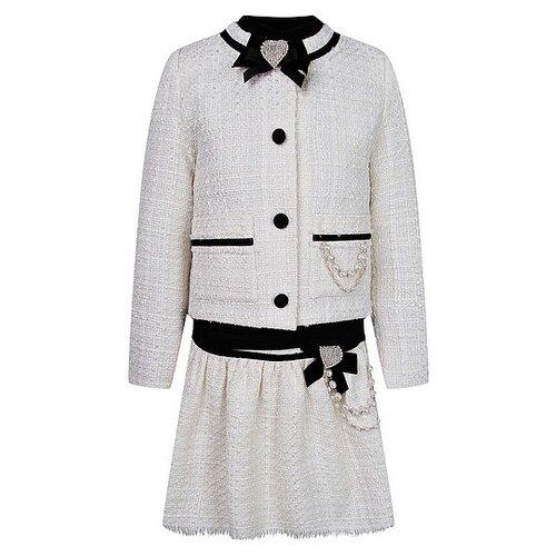 Купить Комплект одежды Lesy размер 128, кремовый/черный, Комплекты и форма