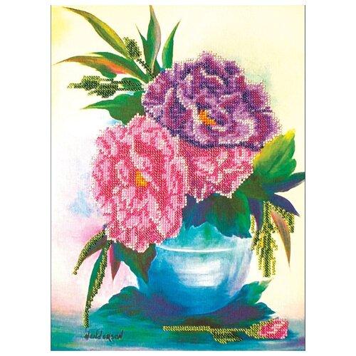 Купить ABRIS ART Набор для вышивания бисером Пионы 28 х 35 см (АВ-016), Наборы для вышивания