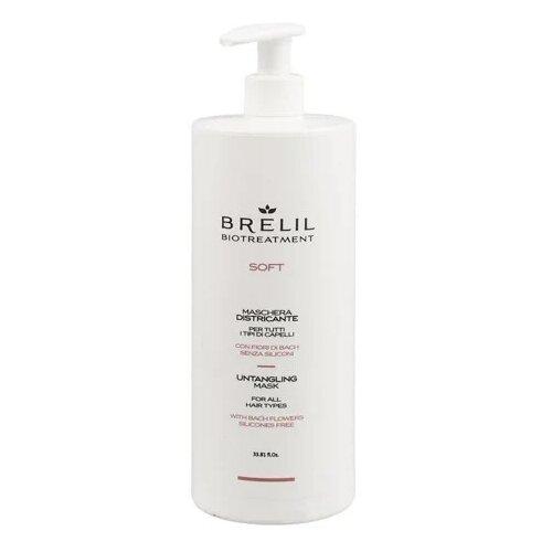 Фото - Brelil Professional BioTraitement Soft Маска для непослушных волос, 1000 мл brelil professional маска biotraitement colour для окрашенных волос 220 мл