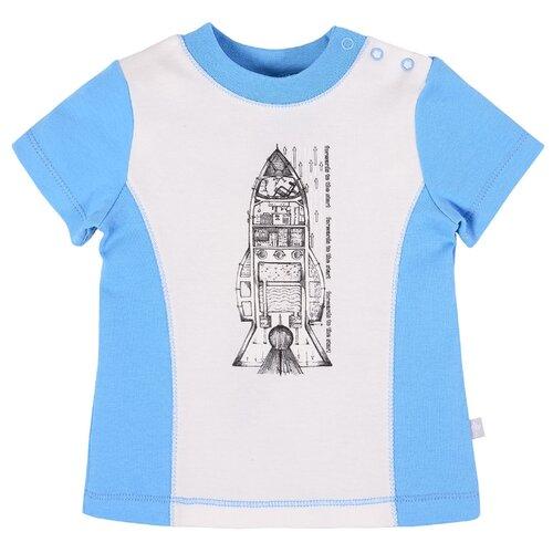 Купить Футболка Мамуляндия размер 74, молочный/голубой, Футболки и рубашки