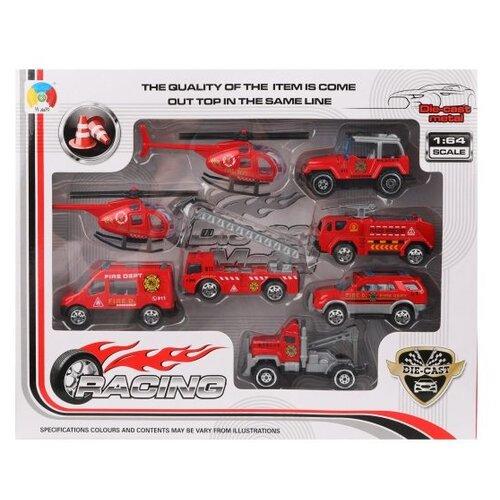 Купить Набор машин Наша Игрушка Служба спасения, 6 машин, 2 вертолета, коробка (G0388E), Наша игрушка, Машинки и техника