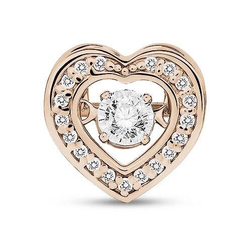ЛУКАС Подвеска с 20 бриллиантами из красного золота P01-D-33653