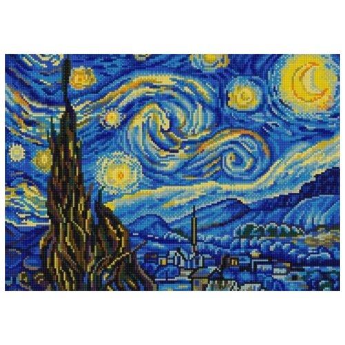 Купить Звездная ночь (Ван Гог) (рис. на сатене 29х39) 29х39 Конек 9887, Конёк, Канва