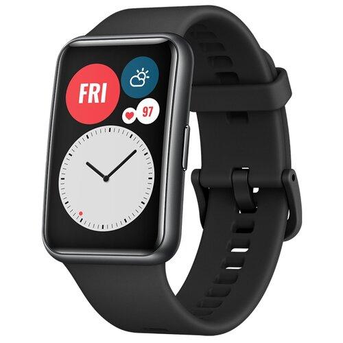 Умные часы c GPS HUAWEI Watch Fit графитовый черный умные часы c gps huawei watch gt classic коричневый
