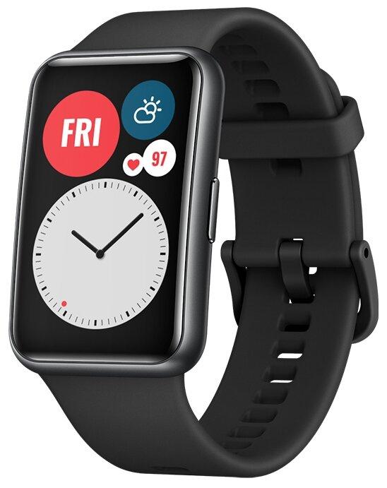 Умные часы HUAWEI Watch Fit, графитовый черный фото 1