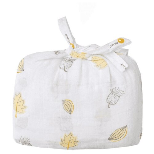 Купить Многоразовые пеленки ОЛАНТ муслин 120х120 см листочки, Пеленки, клеенки