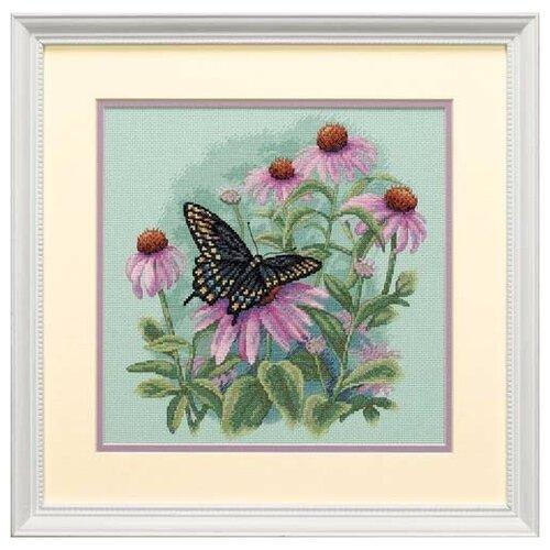 Фото - DIMENSIONS набор для вышивания 35249 Бабочка и ромашки 28 x 28 см набор для вышивания dimensions 03896 уютное укрытие46 x 23 см