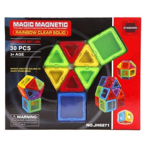 Магнитный конструктор Наша игрушка Magic Magnetic Standard JH6871 Rainbow Clear Solid