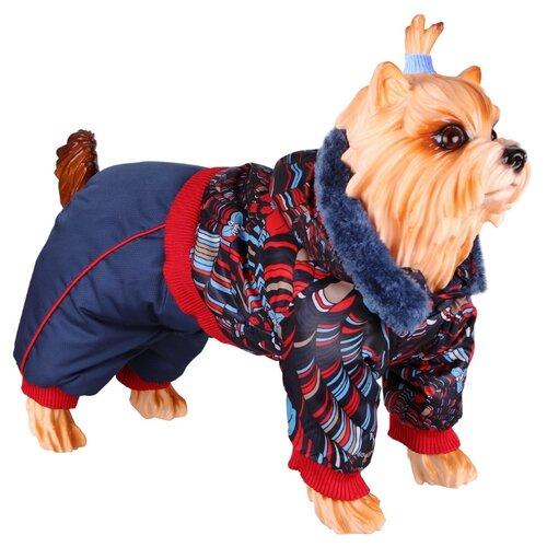 Комбинезон для собак DEZZIE 56356 мальчик, 25 см синий / красный