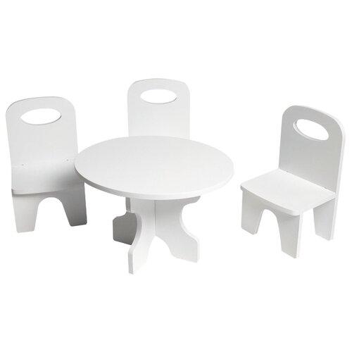 Купить PAREMO Набор мебели для кукол Классика (PFD120-39/PFD120-37/PFD120-41/PFD120-38/PFD120-40) белый, Мебель для кукол