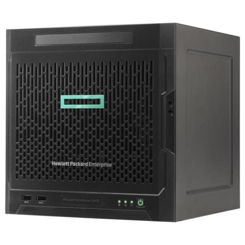 Сервер Hewlett Packard Enterprise Proliant MicroServer Gen10 (873830-421) 1 x AMD Opteron X3216 1.6 ГГц/8 ГБ DDR4/без накопителей/количество отсеков 3.5