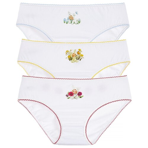 Купить Трусики Lowry 3 шт., размер S, белый, Белье и купальники
