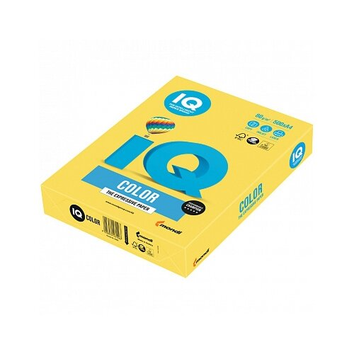Бумага A4 500 шт. IQ color CY39 канареечно-желтый 1 шт.