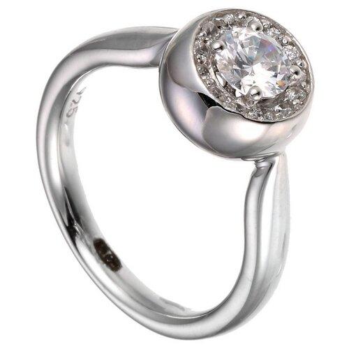 ELEMENT47 Кольцо из серебра 925 пробы с кубическим цирконием MJ0013R-W_KO_WG, размер 18