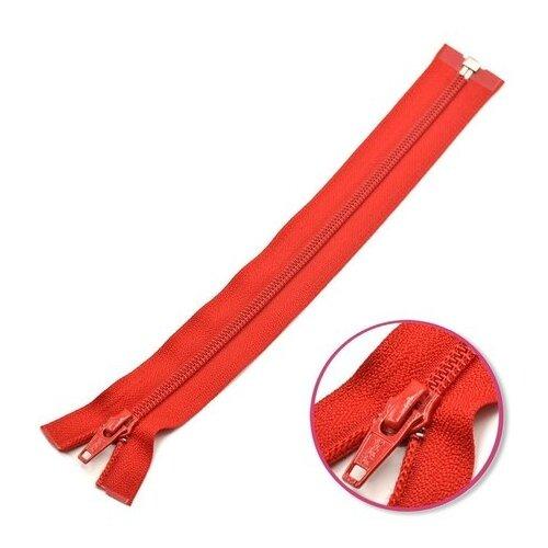 Купить YKK Молния витая разъёмная 0004706/55, 55 см, темно-красный/темно-красный, Молнии и замки