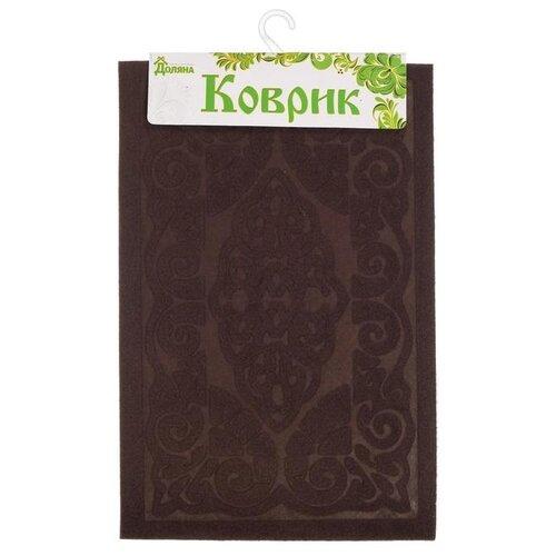 Придверный коврик Доляна Восточная сказка, размер: 0.58х0.38 м, коричневый