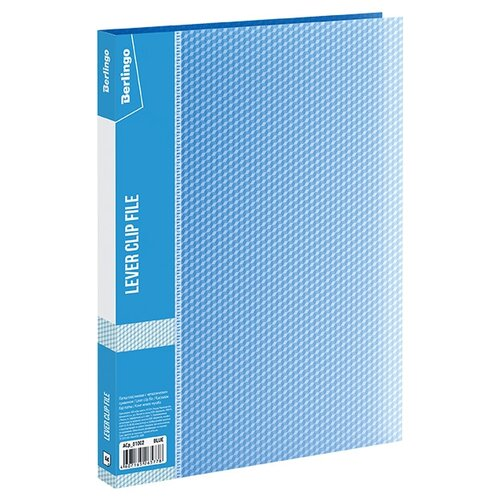 Купить Berlingo Папка с зажимом Diamond A4, пластик синий, Файлы и папки