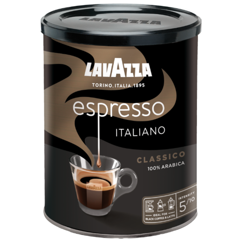 Кофе молотый Lavazza Caffe Espresso жестяная банка, 250 г кофе молотый kimbo espresso napoletano жестяная банка 250 г