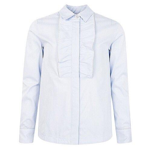 Блузка Silver Spoon размер 152, белый/голубой
