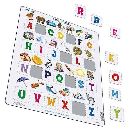 Купить Рамка-вкладыш Larsen Английский алфавит (LS826), 26 дет., Пазлы