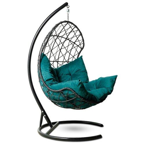 Подвесное кресло-кокон Laura Outdoor Барселона, черный/зеленый