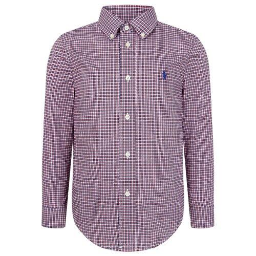 Рубашка Ralph Lauren размер 116, синий/красный