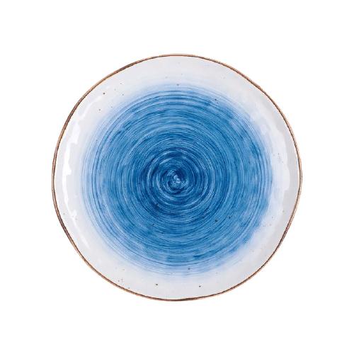 Доляна Тарелка Нептун 27,5 см белый/синий
