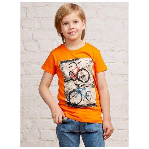 Купить Футболка MOR размер 134-140, оранжевый, Футболки и майки