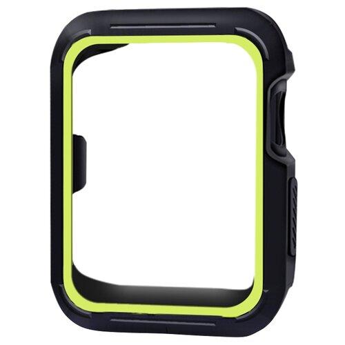 Чехол EVA спортивный для Apple Watch 38mm черный/зеленый ремешок спортивный eva для apple watch 38mm оранжевый ava001or