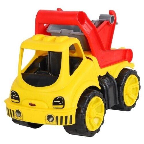 Купить Мусоровоз Джамбо Тойз JB5100020 30 см желтый/красный, Машинки и техника