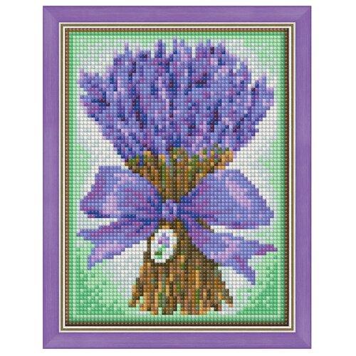 Алмазная живопись Набор алмазной вышивки Букет лаванды (АЖ-1447) 15х20 см алмазная живопись оригами фоторамка зая