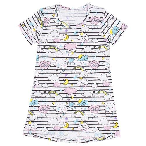 Купить Сорочка ALENA размер 140-146, белый/черный, Домашняя одежда