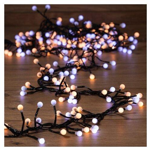 Фото - Светодиодная гирлянда Мишура NEON-NIGHT белого и теплого белого свечения, 3 м светодиодная уличная гирлянда бахрома neon night синего свечения 2 4х0 6 м 76 led