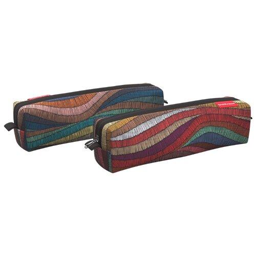 Купить ErichKrause Пенал квадро mini Mosaic (48974) коричневый/красный, Пеналы