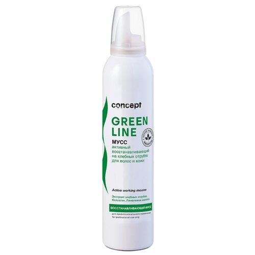 Фото - Concept Мусс активный восстанавливающий на хлебных отрубях для волос и кожи Green Line, 250 мл concept восстанавливающее масло двойное действие 10 10 мл concept green line