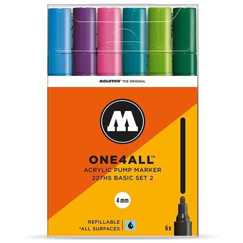 Купить Molotow Набор маркеров One4all 227HS Basic-Set 2 6 шт. (200454), Фломастеры и маркеры