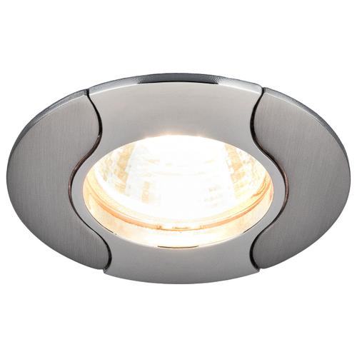 Встраиваемый светильник Elektrostandard 7006 MR16 CH/N хром/никель светильник встраиваемый эра kl29 а sn n литой поворотный тарелка mr16 12v 50w сатин никель никель