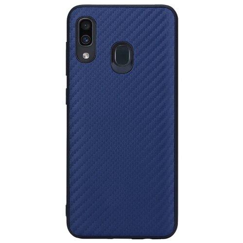 Чехол G-Case Carbon для Samsung Galaxy A20 SM-A205F/A30 SM-A305F темно-синий смартфон samsung galaxy a30 2019 sm a305f 64gb синий