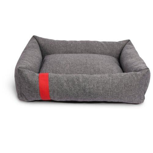 Лежак для собак и кошек Зоогурман Антураж 60х48х15 см серый